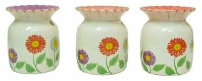 Ceramic Flower Tart Warmer in Three Styles, Price Each