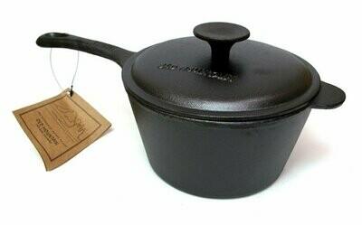 Old Mountain Cast Iron 3 qt Sauce Pan w Lid