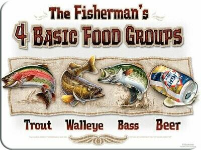 4 Basic Food Groups Cutting Board/Hot Pad