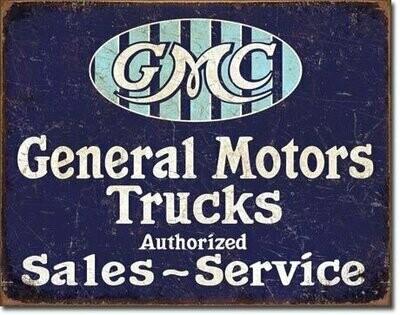 Tin Sign GMC Trucks - Authorized