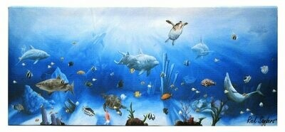 Dolphin Canvas Wall Plaque