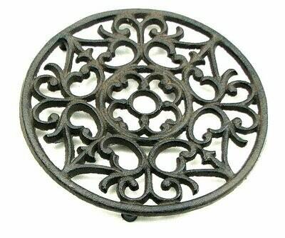 Cast Iron Ornate Trivet