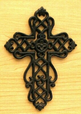 Small Cast Iron Cross with Scrolls