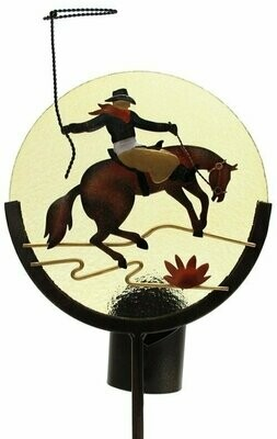 Horse Silhouette Candle Holder Garden Stake