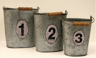 Metal Buckets 3 PC Set