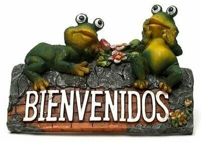 Bienvenidos Frog Plaque