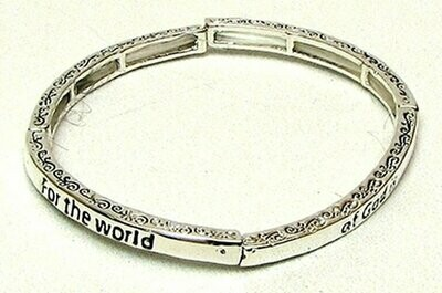 Stackable Stretch Bangle-For The World