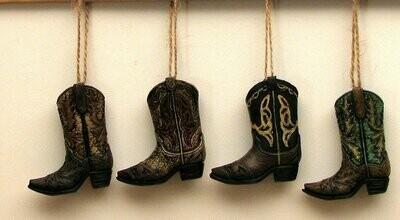Cowboy Boot Ornaments Set of 4