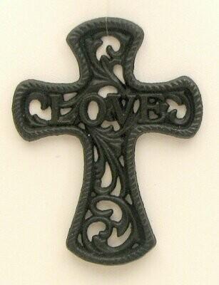 Small Cast Iron Love Cross