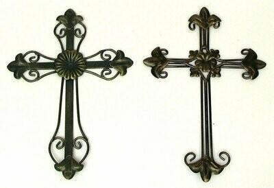 Ornate Crosses Set of 2