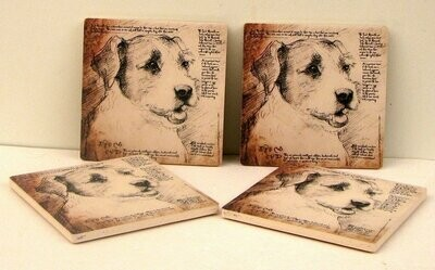 Jack Russell Terrier Coasters Set of 4