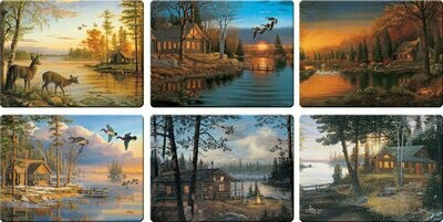 Cabin Scenes Cutting Board Assorted Priced Each
