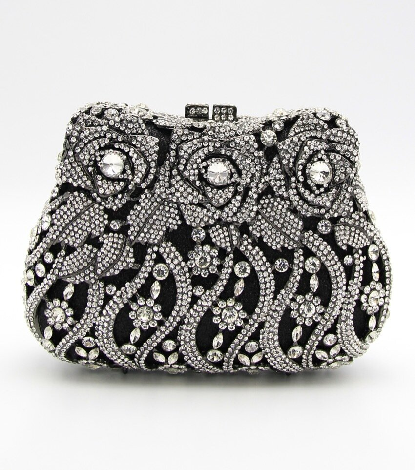 Celine Rose Crystal Clutch