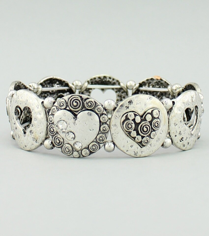Heart Deco Stretch Bracelet
