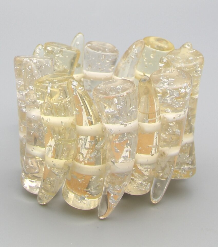 Tribal Gold Flake Stretch Bracelet