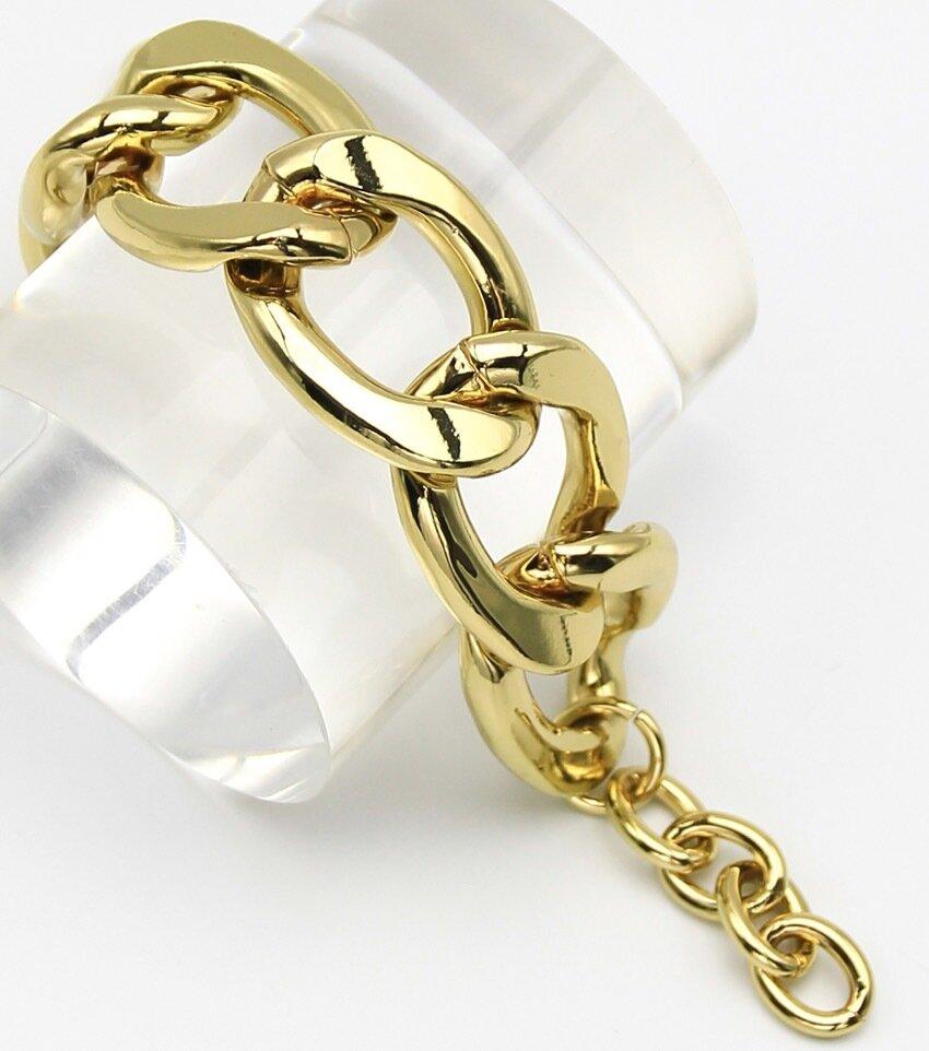 Jumbo Links Metal Adjustable Bracelet