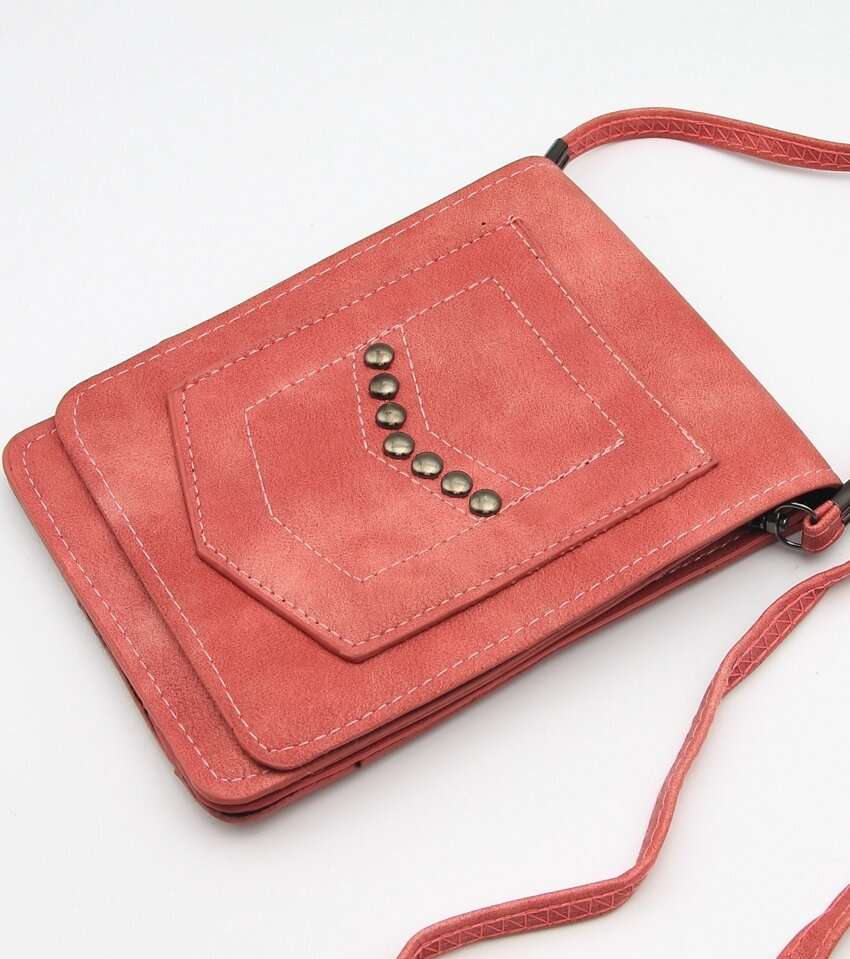 Touch Screen Cell Phone Window Cross Body Faux Leather Mini Purse Bag