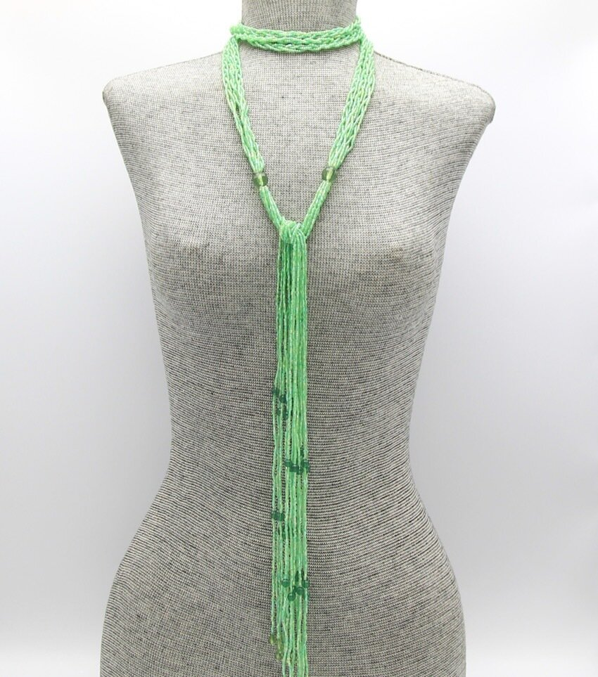 Lariat Beaded Necklace And Belt