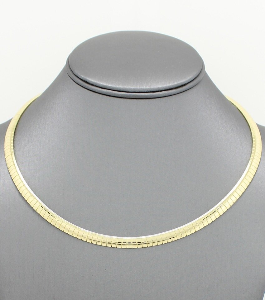 Gold Plated Omega Chain Necklace