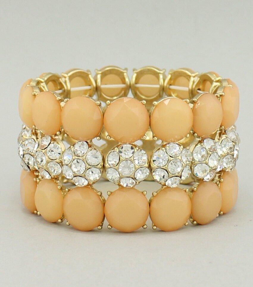 Round Cabochon Stretch Bracelet