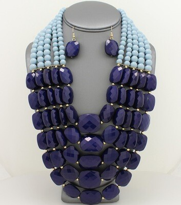 Multi-Strand Acrylic Necklace