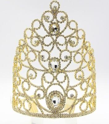 Rhinestone Pave Statement Queen Tiara