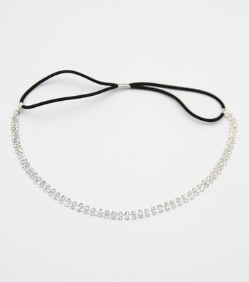 2-lIne Rhinestone Stretch Headband