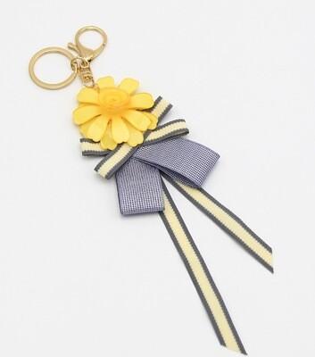 Resin Flower Ribbon Key Chain