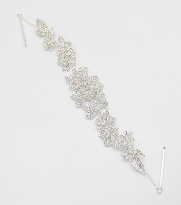 Crystal Pave Flower Bridal Hair Accessory
