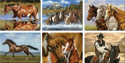 Horse Scenes Cutting Boards Assorted Priced Each