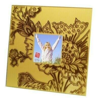 Velvet Square Frame - Gold