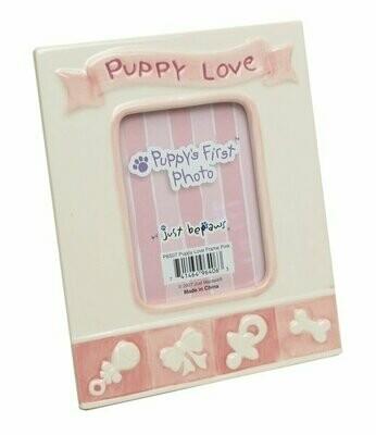 Pink Puppy's First Photo Frame