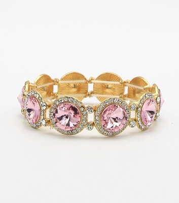 Round Crystal Stretch Bracelet