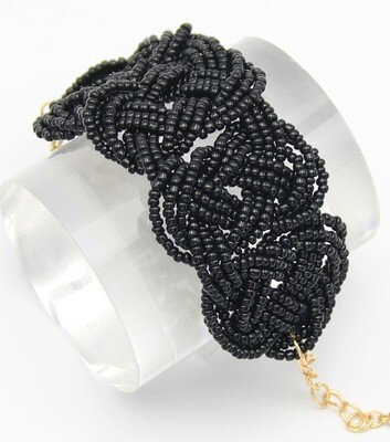 Braided Beaded Fashion Bracelet