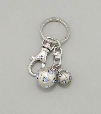 Crystal Heart Ball Key Chain / Bag Charm