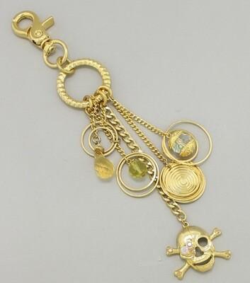 Skull and Cross Bones Key Chain / Bag Charms