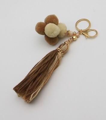 Statement Long Yarn Tassel Bag Charm Key Chains