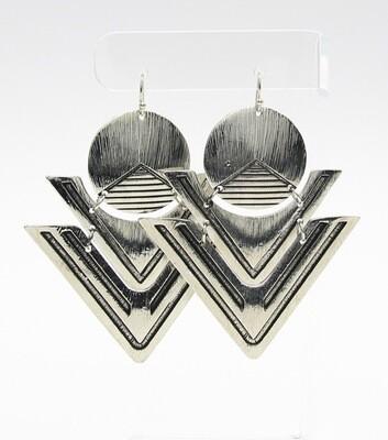Statement Metal Geo Drop Earrings