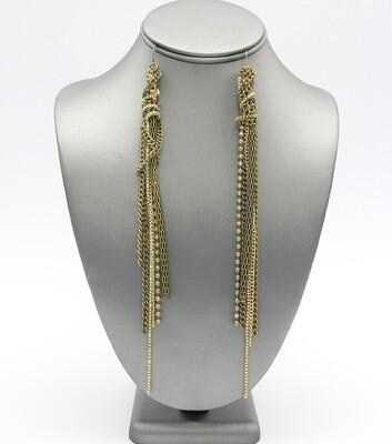 Long Multi Chain Knot Earrings