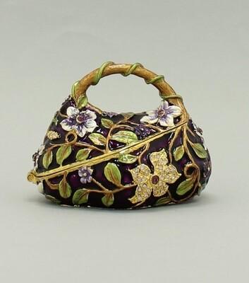 Enamel Floral Bag Gift Box Trinket