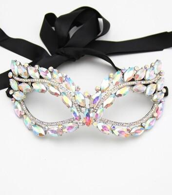 Crystal Rhinestone Marquis Mask