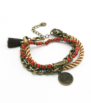 Wrap around Tassel Boho Bracelet