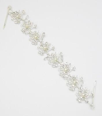 Crystal and Pearl Bridal Hair Accessory