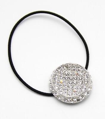 Made In Korea Crystal Pave Round Elastic Hair Ties
