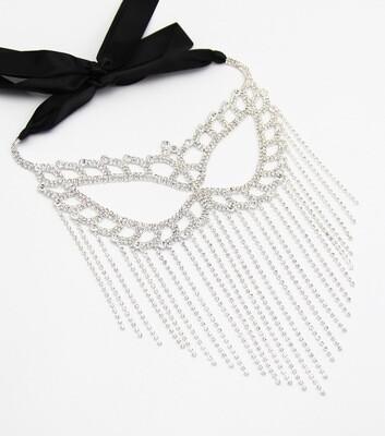 Butterfly Crystal Fringe Mask
