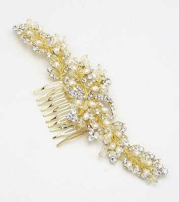 Crystal and Pearl Bridal Hair Comb
