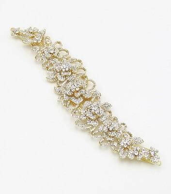 Crystal Rose Bridal Hair Comb