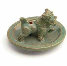 Incense Burner Glazed Snow Lion - Tibet Collection