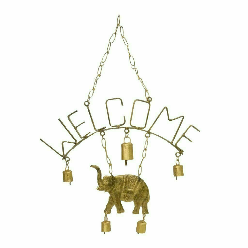 Welcome Elephant Chime with Five Bells - Mira (Bell)