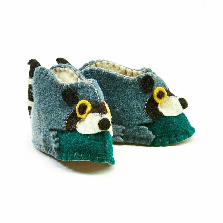 Raccoon Zooties Baby Booties - Silk Road Bazaar